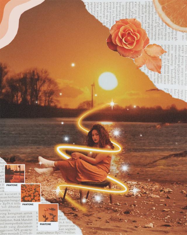#freetoedit swirl #aesthetic #aesthetics #retro #vintage #model #pretty #woman #orange #orangeaesthetic #sunset #sea #lake #river #landscape #sand #newspaper #newspapers #letter #letters #fruits #flower #flowers #plant #plants #nature #background