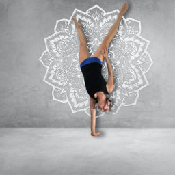 freetoedit wall mandala yoga yogapose