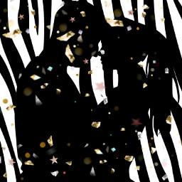 freetoedit black couple art couplelove ecanimalprints