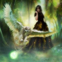 freetoedit vipshoutout owl mystical fantasyart