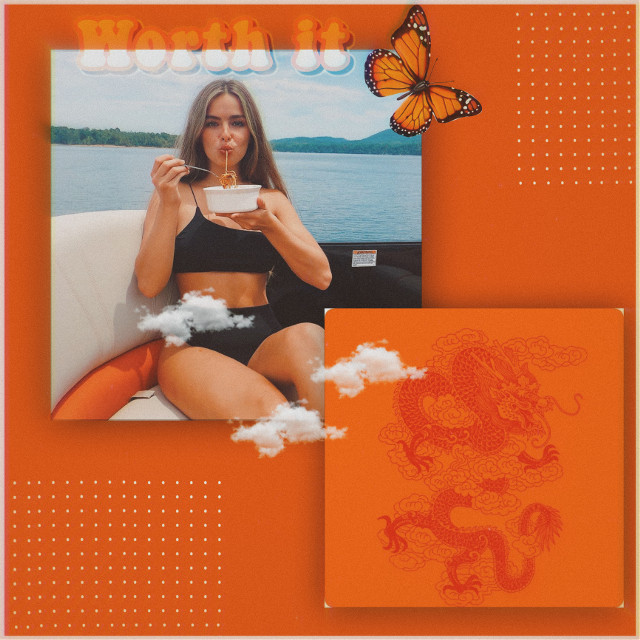 #addisonrae #addi #eating #noodles #orange #beach #boatride #butterflys #clouds #aesthetic #freetoedit
