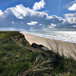 denmark northsea travel meadow clouds