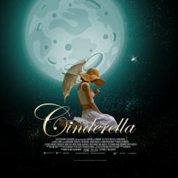 cinderella freetoedit movieposter night moon