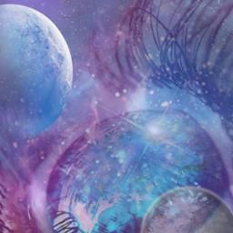 galaxy auge sterne fantasy planten freetoedit