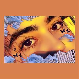art aestetic orange yellow brown