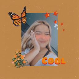 addisonrae vintage orange butterfly cool freetoedit