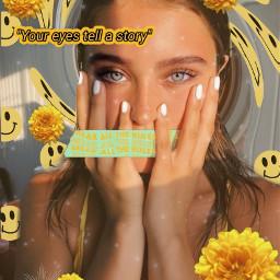 freetoedit eyes blueeyes greeneyes yellow