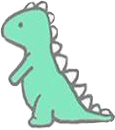 freetoedit green dinosaur greenaesthetic