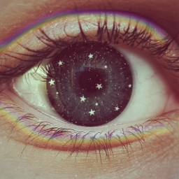 freetoedit eye stars rainbowbrush filtereffect