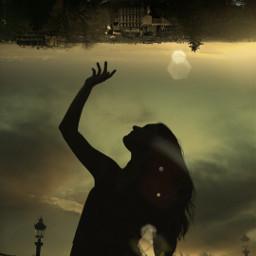 freetoedit shilouette upsidedown paris ircsunsetsilhouette sunsetsilhouette