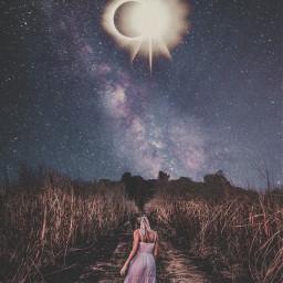 freetoedit dream eclipse night nightsky