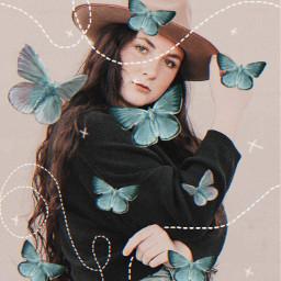 vhs2 vhseffect butterfly butterflies girl freetoedit