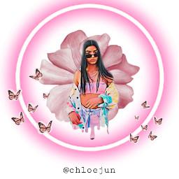 dixiedamelio dixie hypehouse pink butterflys freetoedit