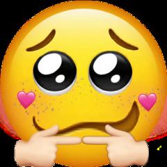 freetoedit shyfingers emoji shy