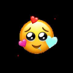 freetoedit inlove heart emoji drool