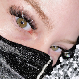 lashes eyes lash extensions glitter