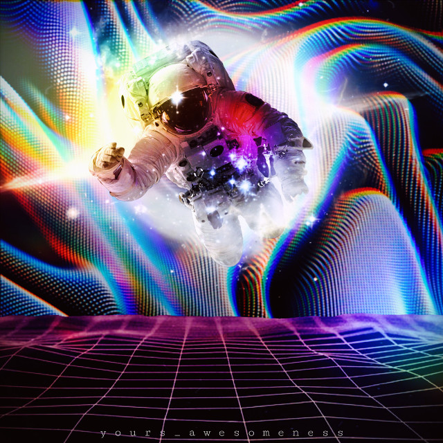 ILLUSION.  #freetoedit #illusions #astronaut #surreal #surrealism #stars#space