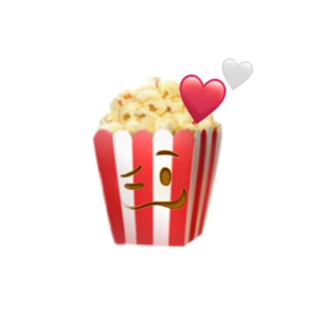 #freetoedit #emojiiphone #popcorn #cinema #heartemoji #redandwhite