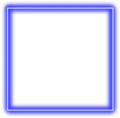 freetoedit glow blue square frame