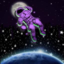 freetoedit universe mond erde astronaut eccutecosmos cutecosmos
