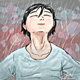 rain drawing drawnwithpicsart