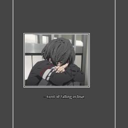 anime aesthetic greyaesthetic alone myownedit freetoedit