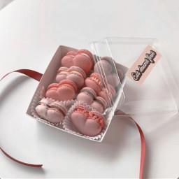 macaron heart pink yummy