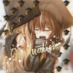 graduation anime animegirls hug sad freetoedit rcclassof2020 classof2020
