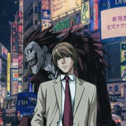 freetoedit animeedit lightyagami ryuk deathnote
