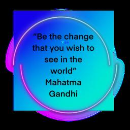 change world gandhi freetoedit