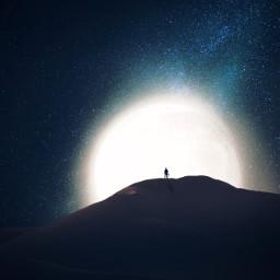 desert blue chill moonlight dream freetoedit