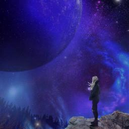 freetoedit socialdistancing meditation alone electricblue