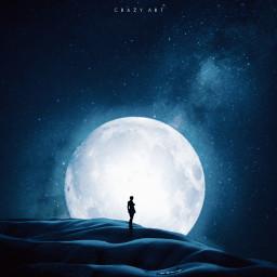 freetoedit dark night imagination moon