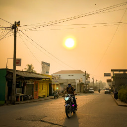 guatemala photography summer sunset motorbike