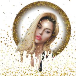freetoedit glitter glittery sparkle gold
