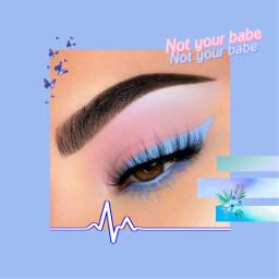 freetoedit eye bluepurple eyeliner