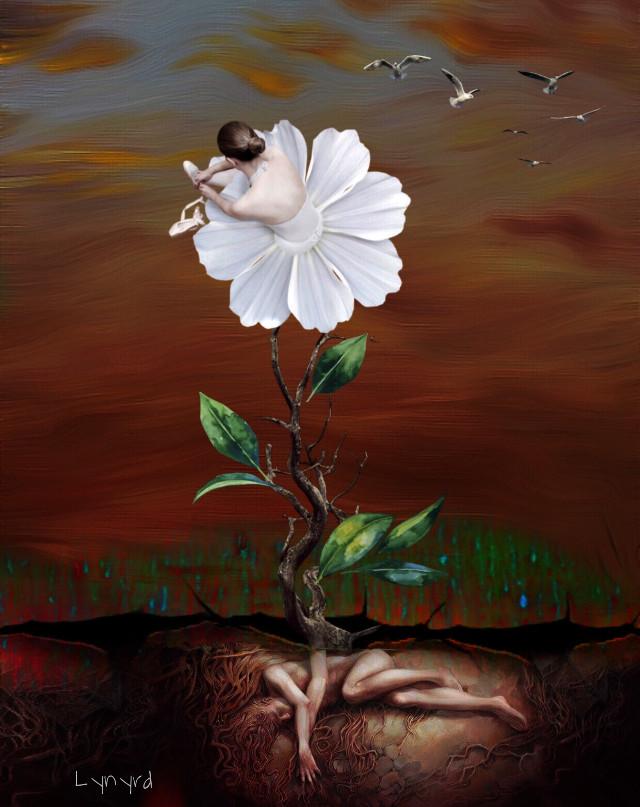 #freetoedit #flower #fantasy #art #surrealism #myedit #madewithpicsart #stickersfreetoedit
