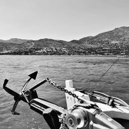 beautiful greece travel boat anchor freetoedit