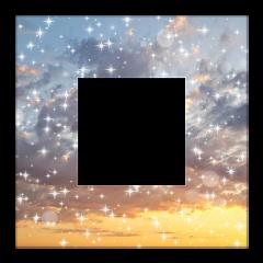рамка небо glitter фон облака freetoedit