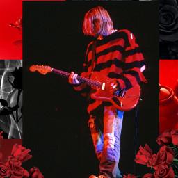 freetoedit nirvana kurtcobain punkrock red
