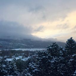 nature naturephotography snow sunset sunsetphotography freetoedit