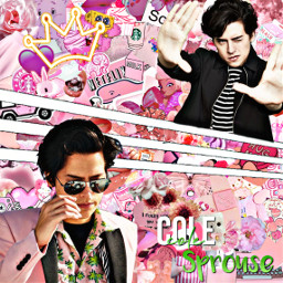 freetoedit colesprouse pink aesthetic