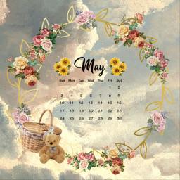 freetoedit flowers challenge cute may srcmaycalendar maycalendar maycalender