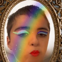 facetune makeup miroir raimbow iloveyou