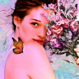 myoriginalwork originalart conceptart womanportrait colorful ecflowereyes irclilacinmyhand freetoedit