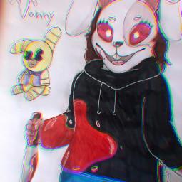 fnaf vanny glitchtrap fanart art
