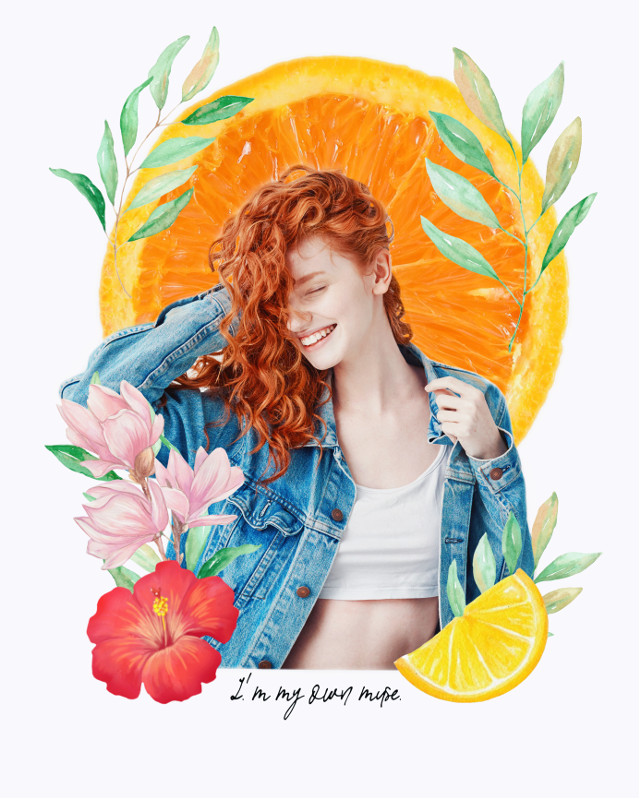 #freetoedit #flowers #spring #orange #fruit #collage #collageart