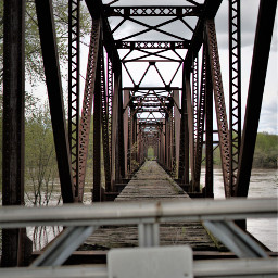 trainbridge abandon photography river tracks