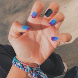 gradient ombre nails nailart bluepurple