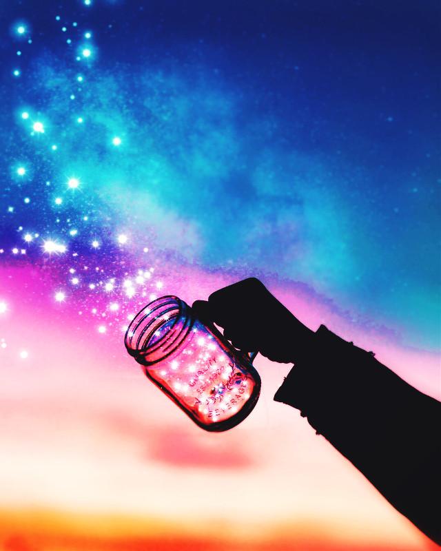 #freetoedit #picsart #remixit #sunset #sunrise #sun #stars #milkyway #galaxy #silhouette #png #edit #jar #sky #clouds #color #night #day #arm #glow